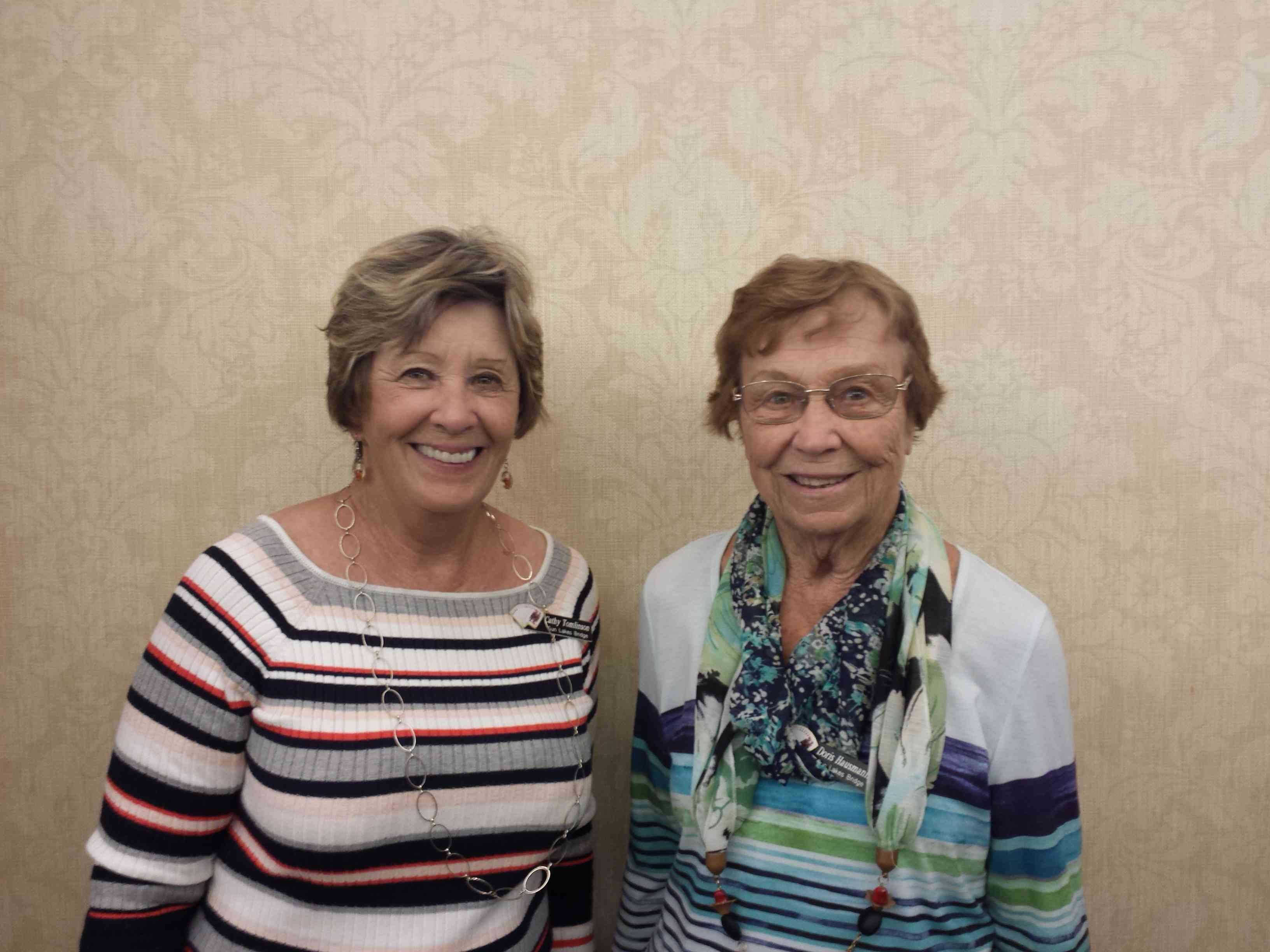 Tues AM Open pairs east west, L, Cathy Tomlinson and Doris Hausmann, SL, AZ